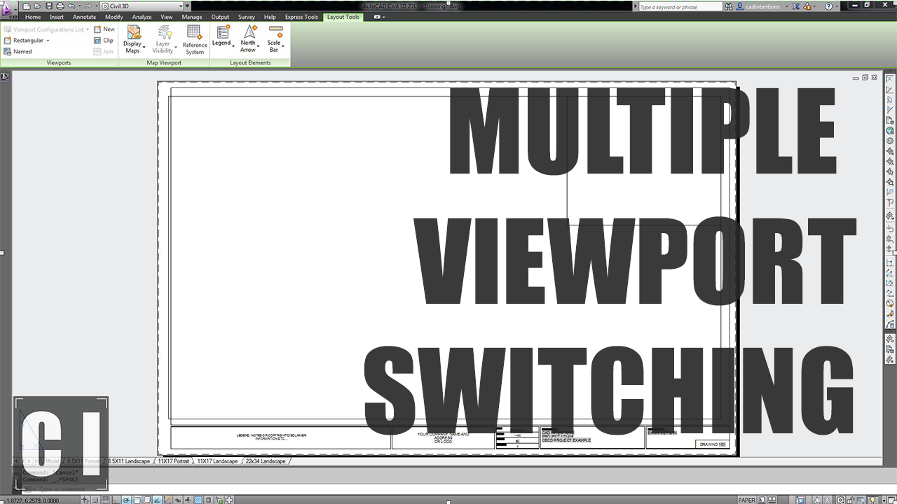 Autocad Viewport Cycle Switch