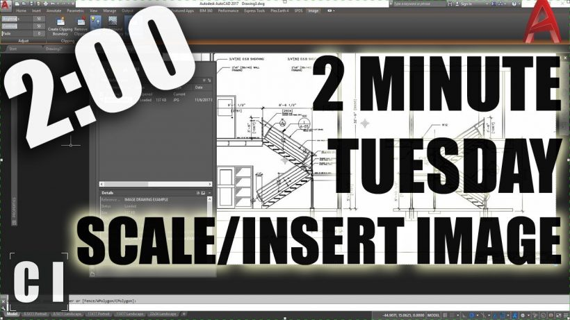 how to insert and scale pdf in autocad